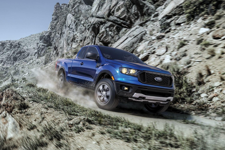 2019 Ranger driving down a mountain path