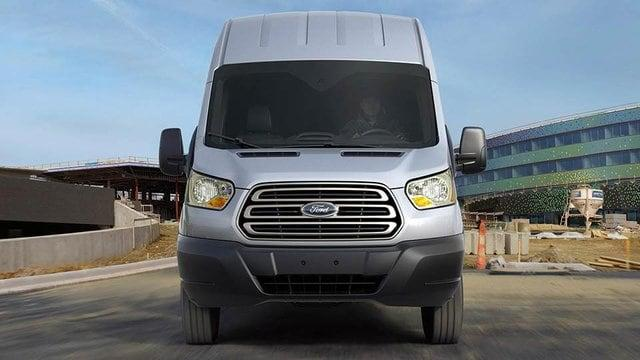Silver Ford Transit High Roof