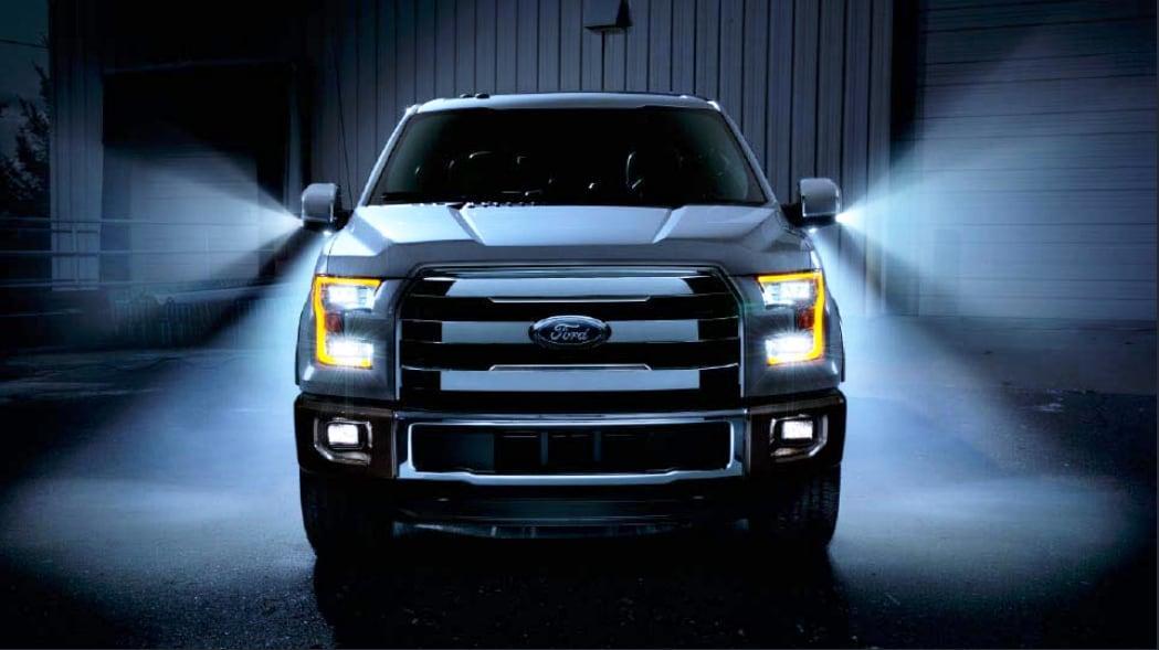 f-150 truck in the dark